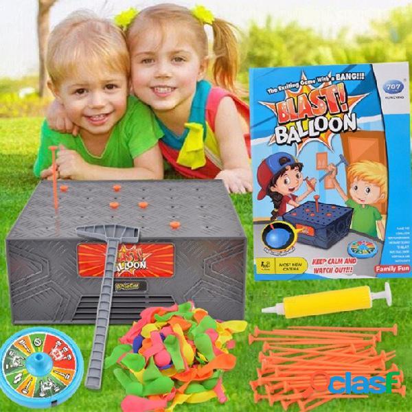 Juego de mesa caja de explosión caja de golpear juguete complicado, globo de la explosión broma divertida amigos de la familia jugar juguete, creativo regalo de navidad gris oscuro