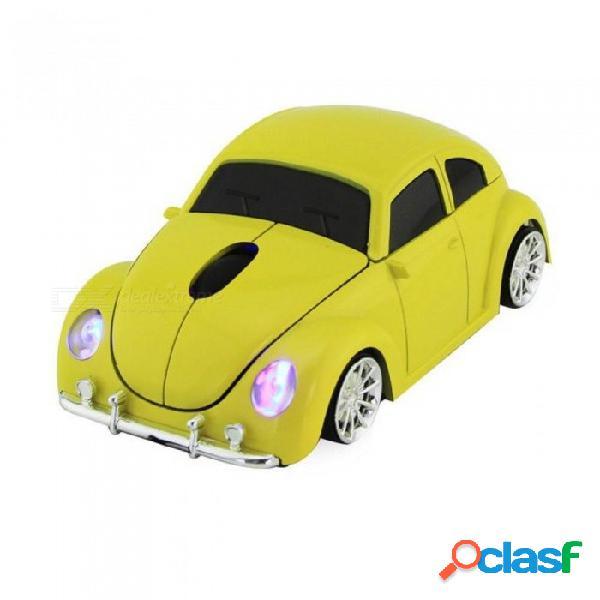 Ratón inalámbrico para computadora fresco escarabajo coche forma ratones 1600 ppp ratón óptico para juegos con receptor usb para pc portátil de escritorio