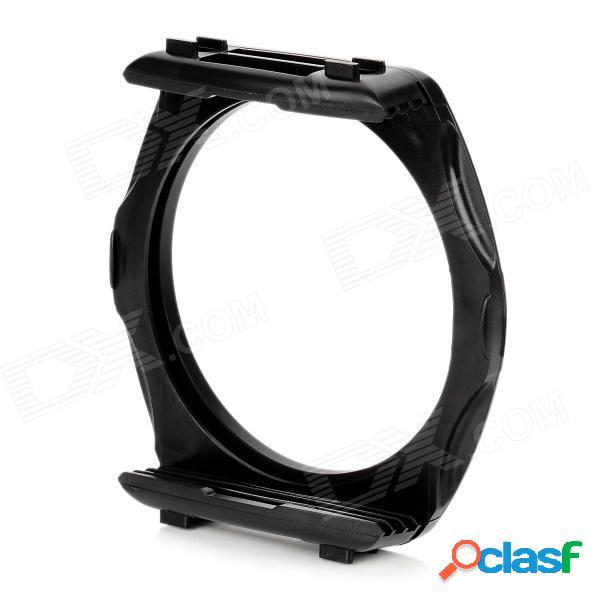 Soporte del anillo adaptador de filtro de 77 mm con soporte de filtro de forma cuadrada para dslr - negro