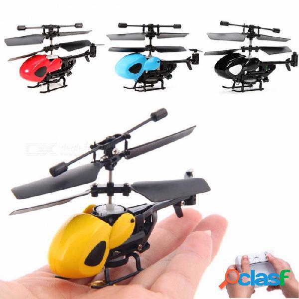 Avión no tripulado global 3.5ch mini rc helicóptero micro helicóptero infrarrojo con giroscopio, avión rc avión no tripulado amarillo