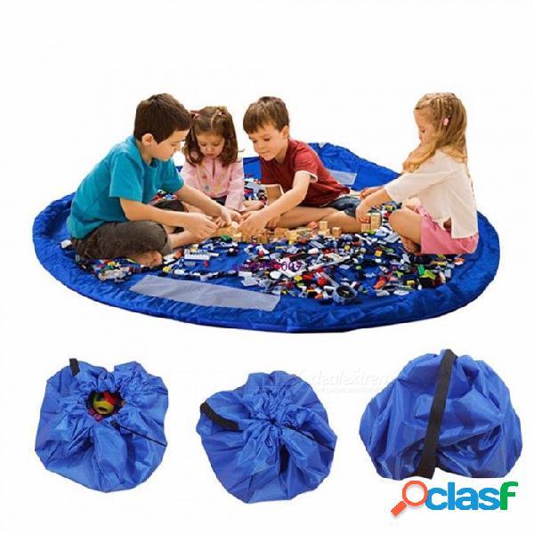 Bolsa de almacenamiento para juguetes y juguetes para niños multifuncional para uso interior y exterior colchoneta de juegos plegable para bebé l / rosa