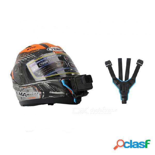 Cámara de acción para el casco de motocicleta telesin soporte de barbilla delantera para gopro hero 7/6/5