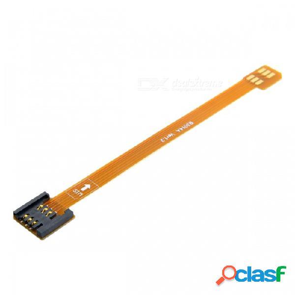 Cy ep-110 3g 4g kit de tarjeta micro sim macho a extensión uim sim hembra estándar extensión plana suave cable extensor fpc (10 cm)