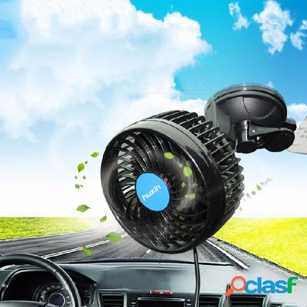 Hx-t703e 12 v 6 pulgadas copa de succión ventilador de coche portátil continuo coche vehículo van ventilador de aire ventilador enfriador ajustable ventilador de refrigeración