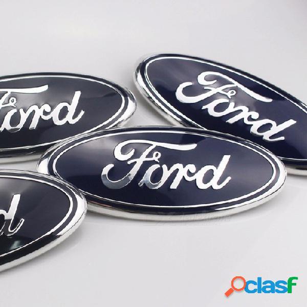 Insignia auto del frente de la etiqueta engomada del logotipo del coche auto para el vado, calcomanía decorativa de los accesorios del styling del coche etiqueta negra