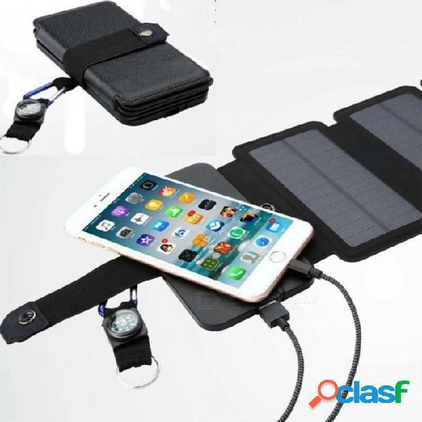 Sunpower 11w paneles solares plegables células cargador batería sunpower salida usb dispositivos de carga rápida portátiles para teléfonos inteligentes 5 paneles solares