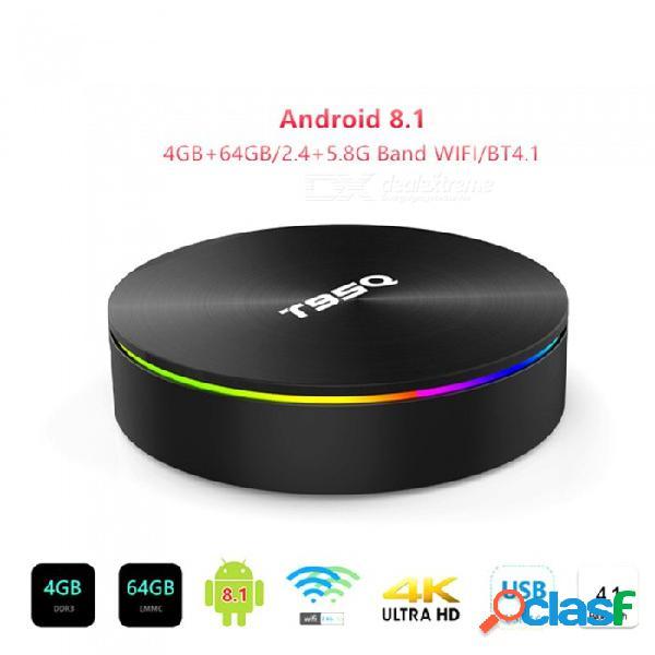 Android 8.1 tv box amlogic s905x2 t95q reproductor multimedia inteligente 4gb 64gb ddr4 quad core 1000m 2.4g y 5ghz dual wifi bt4.1 t95q