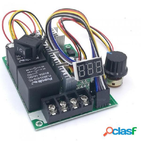 Controlador de velocidad ajustable pwm pantalla digital del motor de cc 0 ~ 100% de entrada del módulo del variador ajustable 60a 12v 24v controlador de velocidad