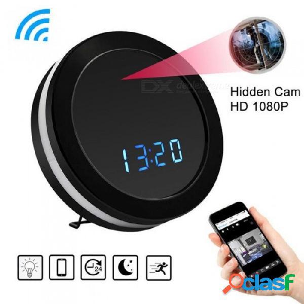 Hd 1080p wifi reloj redondo mini cámara de visión nocturna sensor de movimiento video grabadora de audio dvr cámara de vigilancia inalámbrica cámara de colores con tarjeta de 4g tf