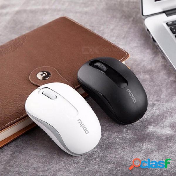 Rapoo m10 2.4g mini ratón inalámbrico óptico, mouse usb receptor nano usb de 1000dpi confiable para computadora portátil de escritorio