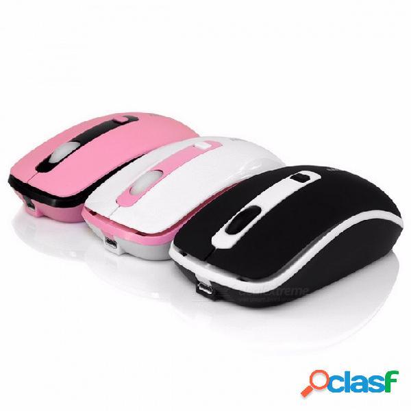 Ratón inalámbrico colorido recargable con mini clic silencioso, ratón para computadora de juego, ratón para gamer profesional pc portátil portátil