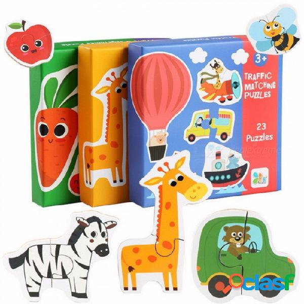 Tarjeta grande de aprendizaje temprano para niños rompecabezas a juego mi primer rompecabezas juguetes para niños niños juguetes educativos verde