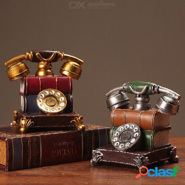 Adorno de estilo retro, estilo fonógrafo, teléfono vintage para decoración del hogar 17 x 16 x 13 cm