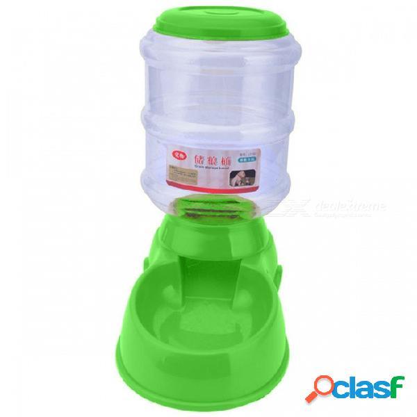 El alimentador automático de alimentos para mascotas de plástico p-top de 3.5 litros, un gran plato de plato de comida para cachorro de mascotas de perro