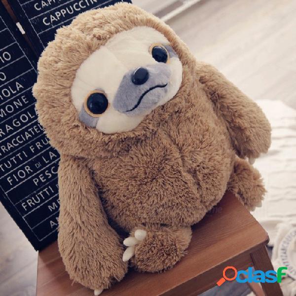 Muñeca de juguete de peluche perezoso adorable lindo, película amp tv peluche perezoso animal de peluche para niños regalo de cumpleaños marrón / blanco
