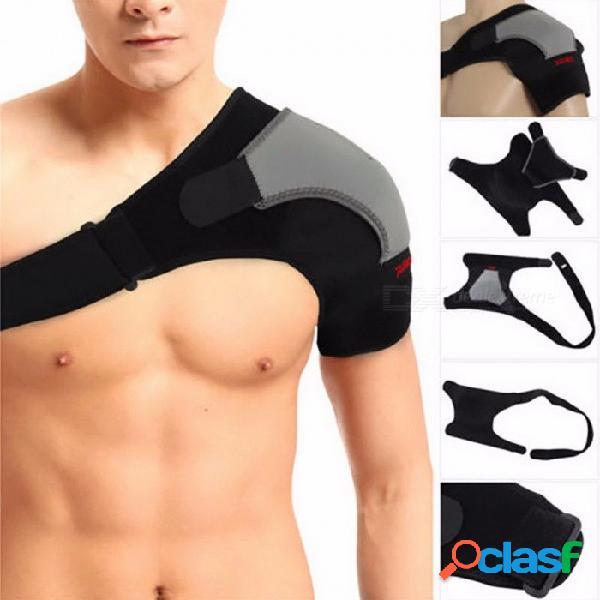 Z16401 ajustable hombro izquierdo / derecho protector de vendaje, dolor en las articulaciones, hombro, correa de soporte de hombro, un tamaño ajustable / hombro izquierdo