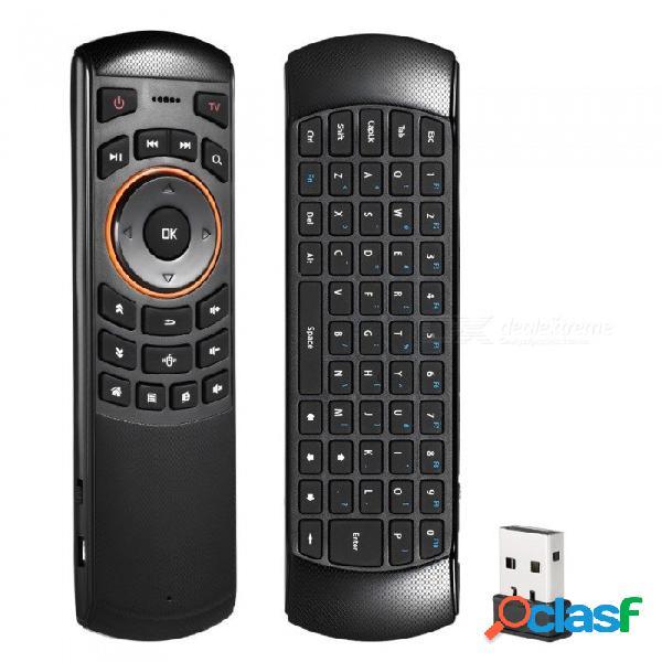 Docooler mini 2.4 ghz inalámbrico qwerty teclado aire ratón control remoto de mano 6 gxes giroscopio para mini pc tv caja negro