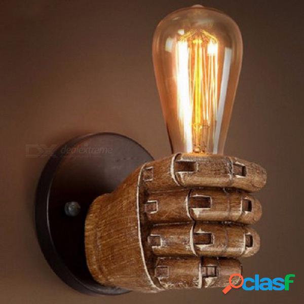 Lámpara de aplique de pared estilo retro de edison, personalidad creativa loft industrial vintage montado en la pared marrón claro