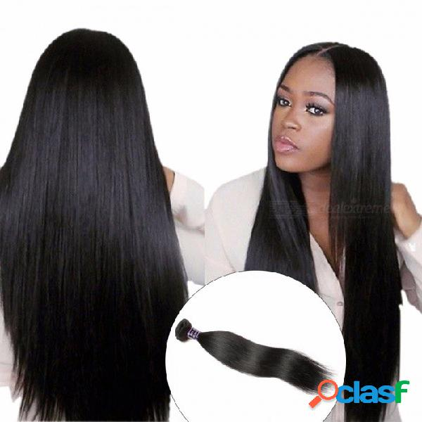 Paquete de tejido de pelo recto peruano, extensión de cabello humano, paquete de cabello de doble trama, paquetes de 1 pieza no remy repartidos 28 pulgadas