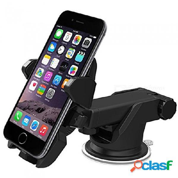 Soporte del sostenedor del parabrisas del coche de 360 grados para iphone x / huawei p20 / samsung s9 / gps / teléfono móvil