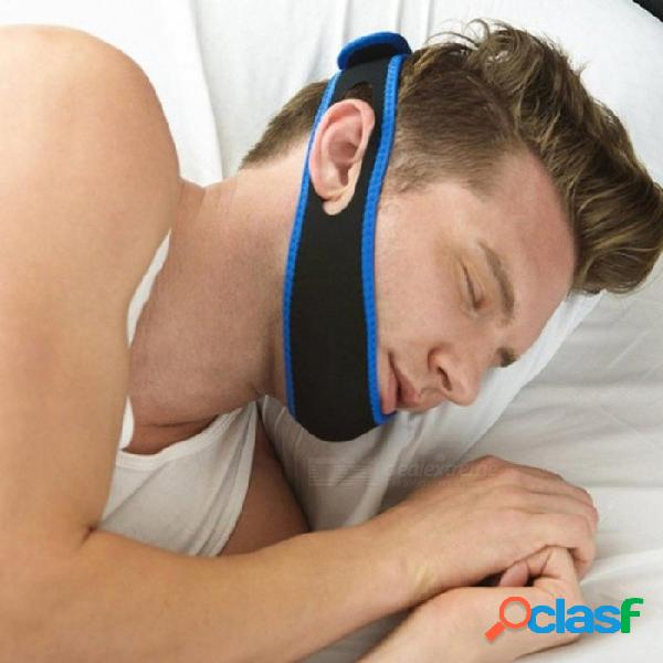 Anti ronquidos correas de la barbilla protector bucal detener bruxismo soluciones anti ronquidos nariz ronquidos respirar ronquido tapón para dormir negro