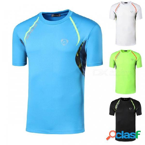 Camiseta deportiva de manga corta camiseta de fitness ropa deportiva para correr la velocidad del sudor carrera de entrenamiento de compresión lsl137 negro / m