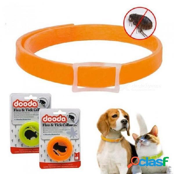Insecticida anti pulgas mascotas perros gato collar ajustable anti-insectos mosquitos anillo de perro correas del cuello perro protección 33 cm / verde