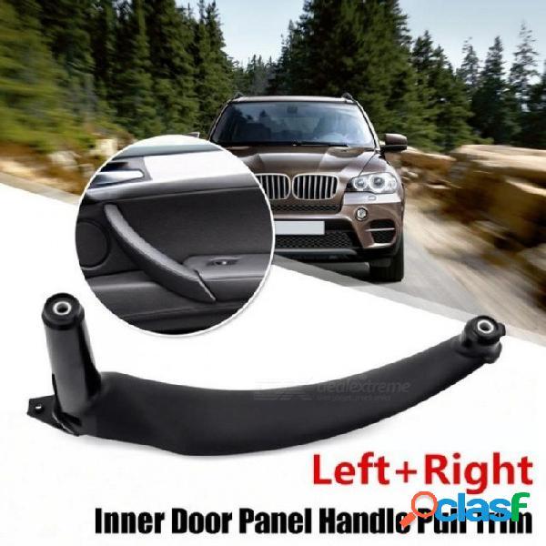 Negro izquierdo / derecho interior del automóvil manijas de las puertas interior del panel de la puerta tirar de la cubierta de ajuste para bmw e70 x5 negro izquierdo
