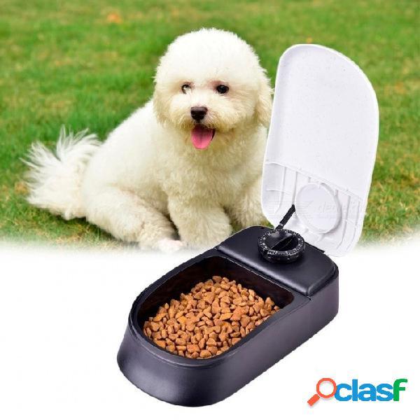 Perro mascota temporizador alimentador automático para gato perro mascota plato dispensador de comida seca cuenco perro alimentador plato fácil / conveniente alimentador automático para masco