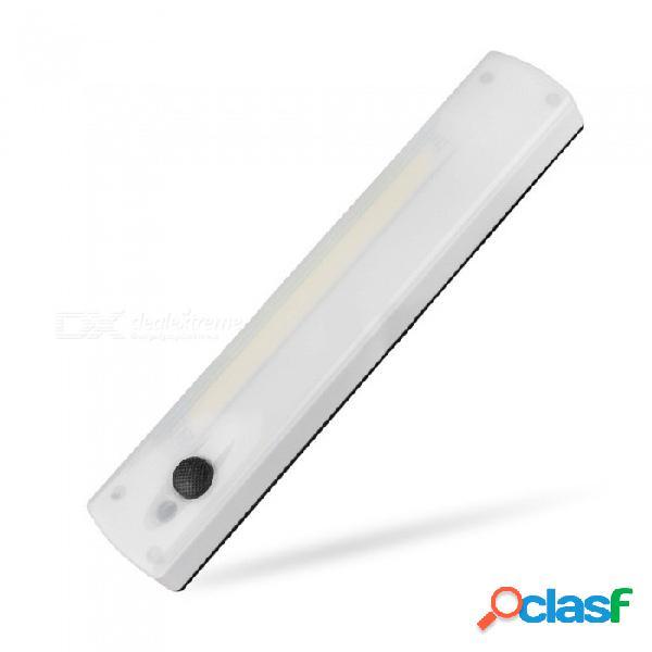 Cob led corredor portátil pared luz de noche gabinete de emergencia interruptor de mano luces de interior iluminación blanca / blanca