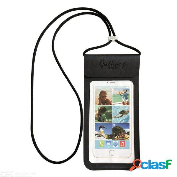 Funda impermeable para teléfono móvil funda transparente para el tacto de huellas dactilares de pu para iphone 7 plus