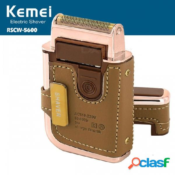 Kemei km-5600 maquinillas de afeitar eléctricas para hombres máquina de afeitar bigote máquina de afeitar máquina de afeitar recargable con espejo