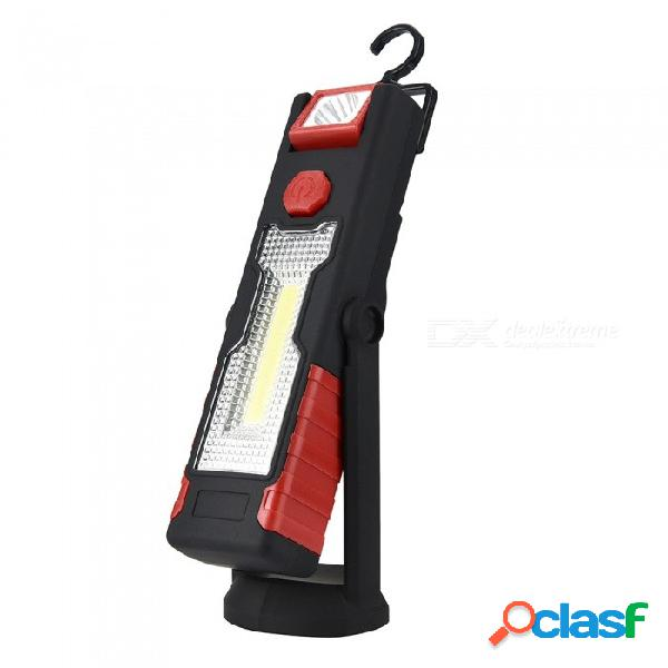 La luz de trabajo led cob multifuncional con soporte de soporte, gancho magnético fuerte puede invertirse