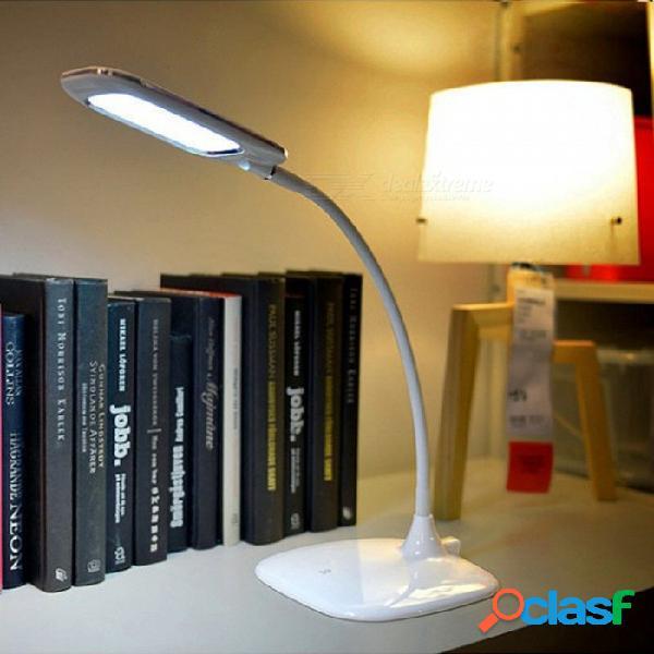 Lámpara de mesa recargable portátil del led, luz del escritorio del control de tacto de 3 modos para el libro que lee el blanco / 0-5w