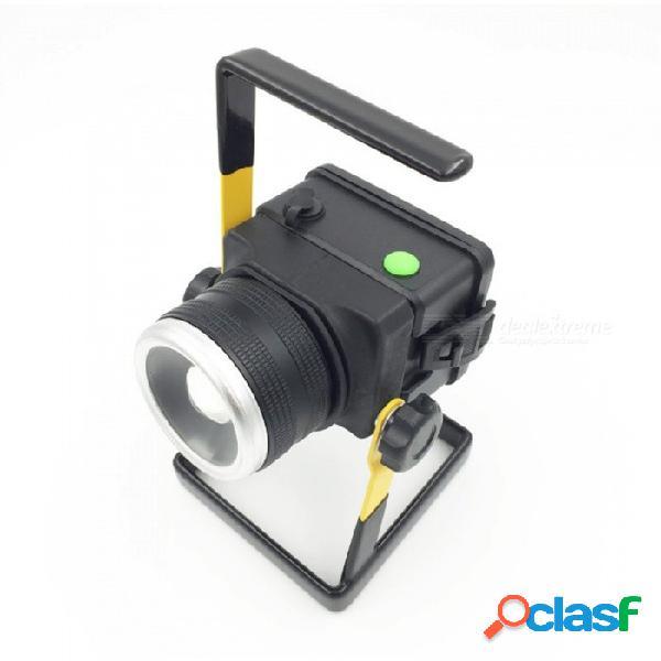 Luz de césped de alta potencia t6 led 3 modos de iluminación al aire libre luces de trabajo impermeables blancas