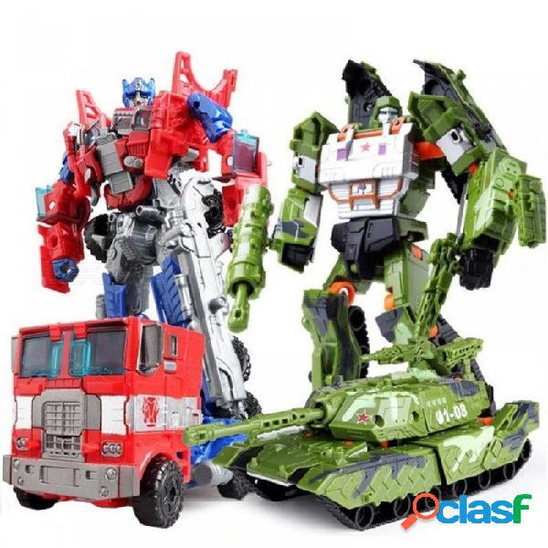 Nuevos juguetes de transformación de robot fresco coche niños niños anime plástico abs figura de acción tanque militar mobel regalo de navidad para niños v901