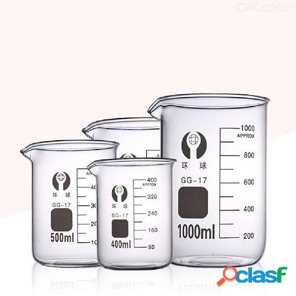 Alta calidad vaso de vidrio resistencia a alta temperatura 10-5000ml becherglas suministros de equipos de laboratorio