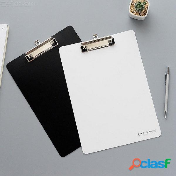 Carpeta simple a4 tablero de escritura tablero de escritura carpeta de papelería productos de archivo material de oficina de clip