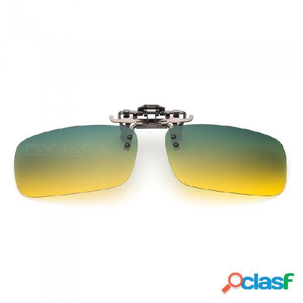 Clip polarizado para gafas eastor tipo día y noche para conductores masculinos y femeninos con visión nocturna y gafas de sol de conducción