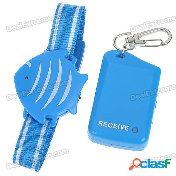Dispositivo de alarma anti-perdida con forma de pez lindo de seguridad para niños / mascotas / bolso / bolsa (1 * cr2032 / 1 * aaa)