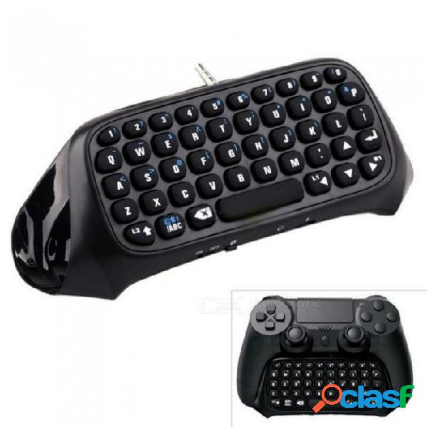 Mini teclado inalámbrico con teclado bluetooth para sony ps4 playstation 4 accesorios para juegos teclado multifuncional negro