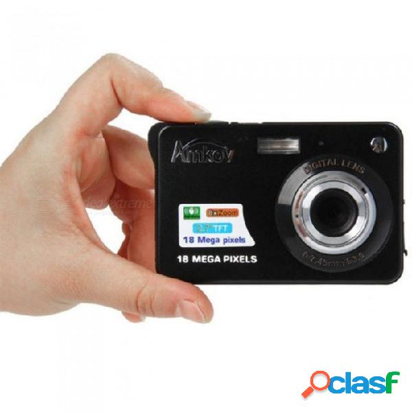 Cdc3 cámara digital tft hd de 2.7 pulgadas. cámara de video digital de 1080p cmos 3.0mp anti vibración de 1080p con zoom digital de 8x, negro