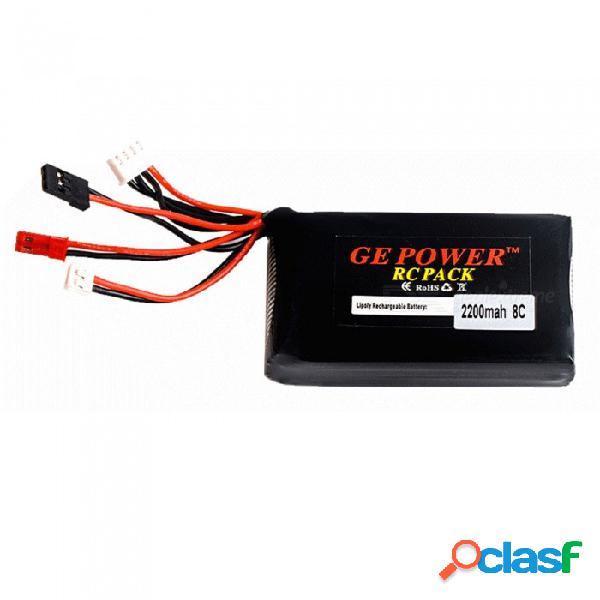 Ge power 11.1v 2200mah rc lipo batería para gt2 gt3b t6ehp-e 6ex controlador remoto del transmisor - estilo b