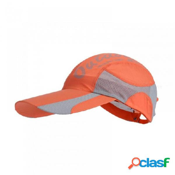 Gorra de verano al aire libre sombrero de sol unisex gorra plegable de secado rápido topee senderismo gorra de senderismo sombrero de deportes al aire libre de un tamaño / gris