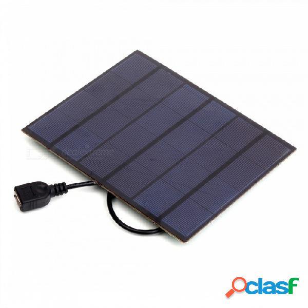 Jedx 3.5w 6v salida usb de cargador de panel solar de cargador de panel solar de silicio monocristalino