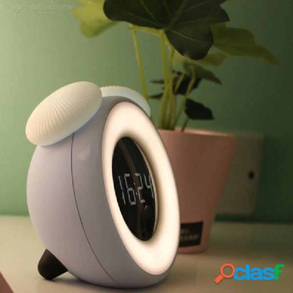 Lámpara de noche con luz de noche de reloj led de noche con reloj 2 modos de iluminación sensor de movimiento