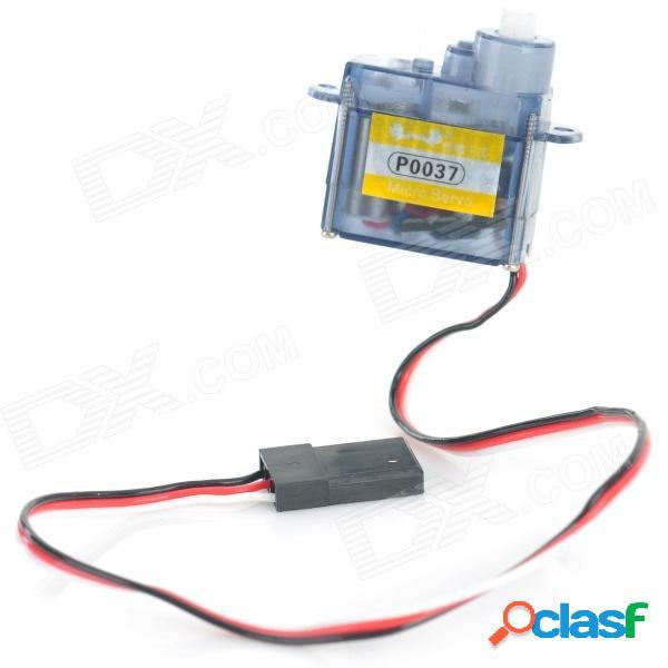 P0037 diy plástico + motor de dirección de hierro servo para r / c juguete - azul claro + blanco (4.8 ~ 6.0v)
