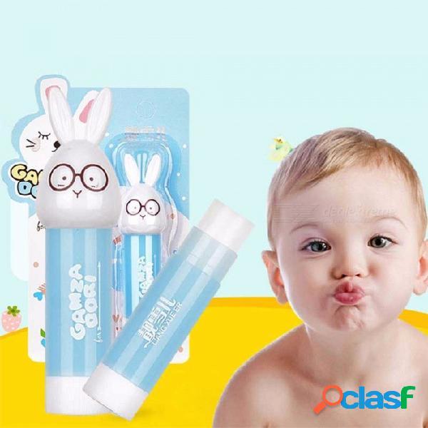 1 unids bálsamo labial para niños que hidrata el labio de larga duración protege el color aleatorio de fruitc de dibujos animados