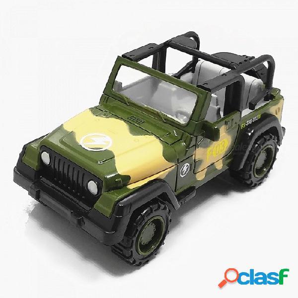 1:55 suvs militares de aleación de zinc coche de juguete para niños / decoración de oficina - camuflaje