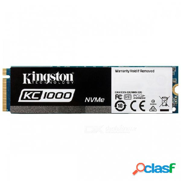 Kingston ssdnow serie kc1000 skc1000 / 480g 480gb ssd, 2700mb / s (lectura), 1600mb / s (escritura) nvme